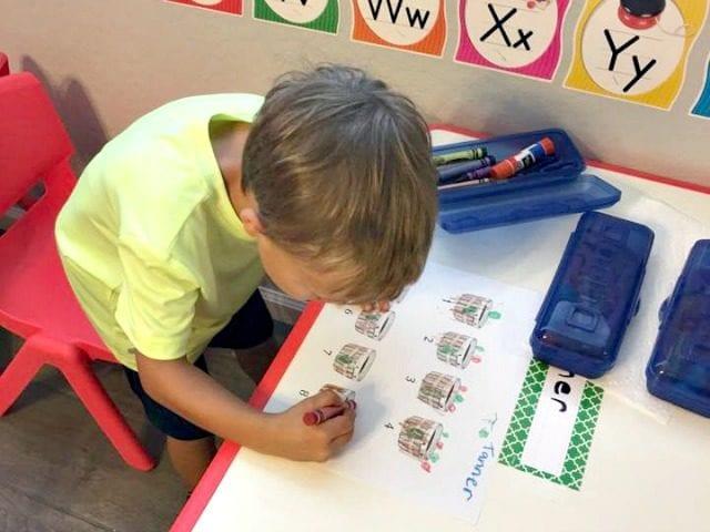 Apple Barrel Preschool Math Activity