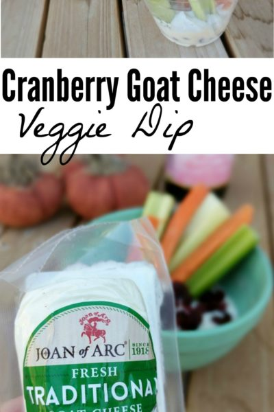Cranberry Goat Cheese Dip with Veggies Easy Appetizer
