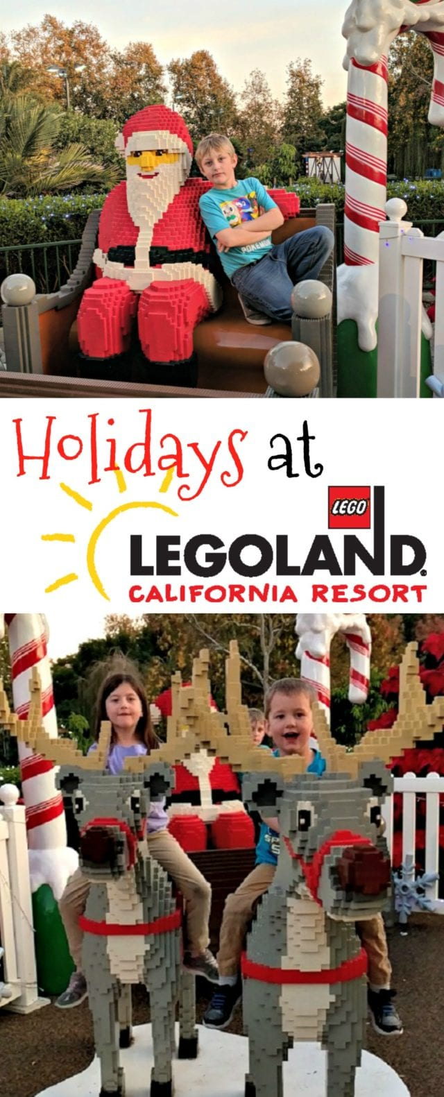 LEGOLAND is a fun place to visit during the holidays. Check out all the fun touches they add to bring some holiday cheer! #HolidaysAtLEGOLAND #ad
