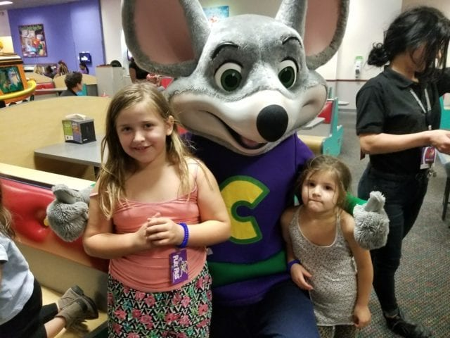 birthday girls with chuck e cheese