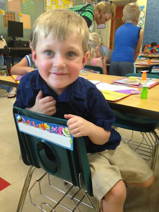 Carter at Kindergarten