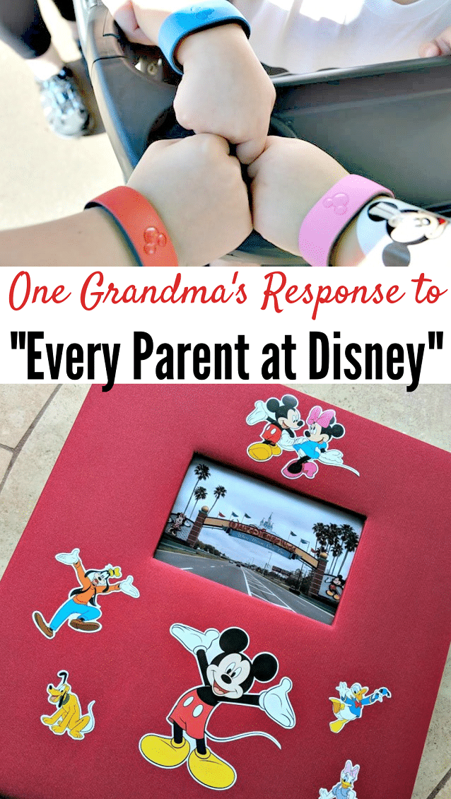 This sweet grandma combined the text from John Crist's Every Parent At Disney with photos from the Disney parks to make this sweet and funny photo book!