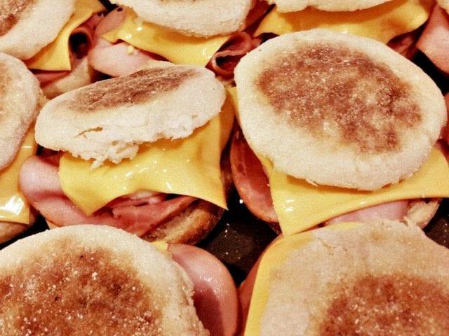 Egg McMuffin breakfast sandwiches