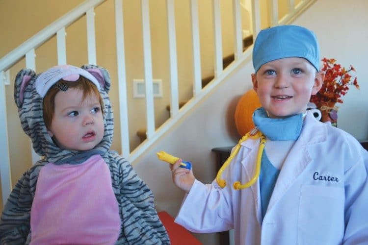 Doctor and kitty costumes