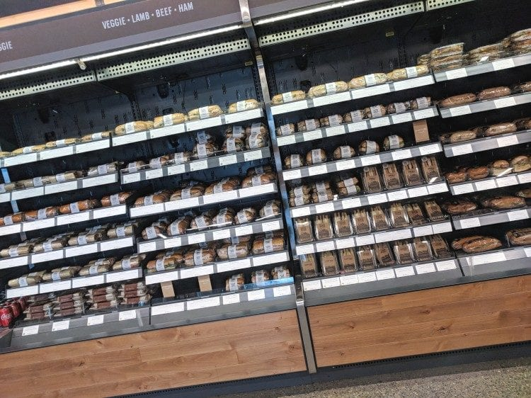 Amazon Go selection