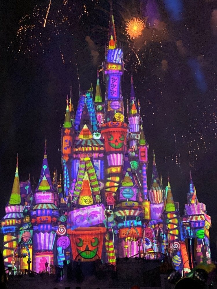 Disney World Castle Halloween show