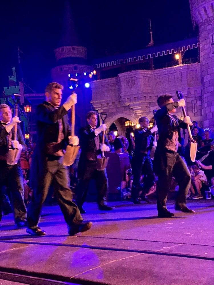 Gravediggers in Halloween parade
