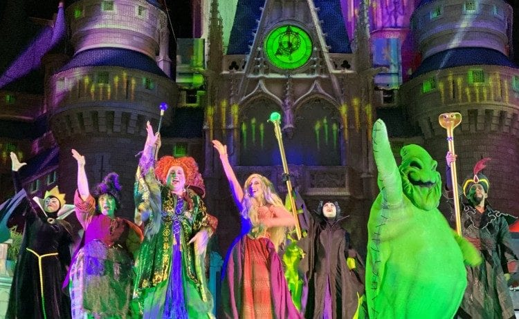 Halloween show at Disney World
