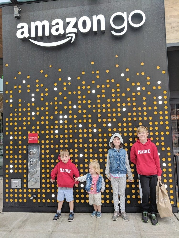 Kids at Amazon Go