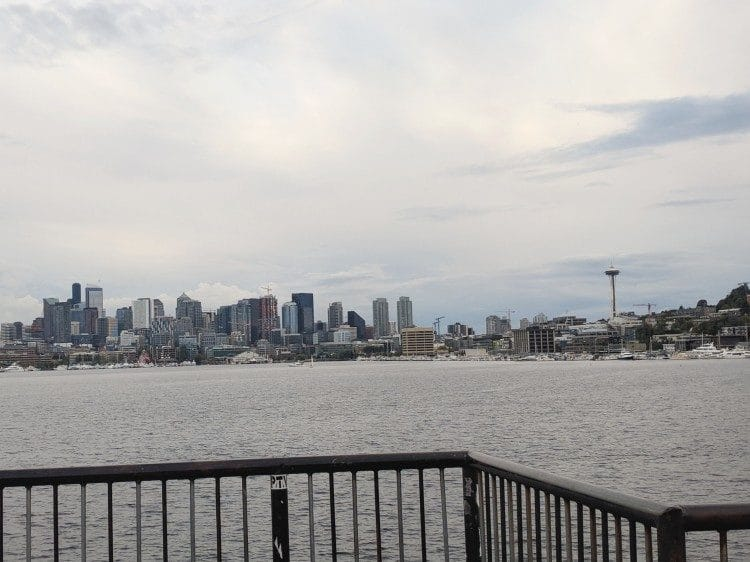 View of Seattle from Gas Works Park