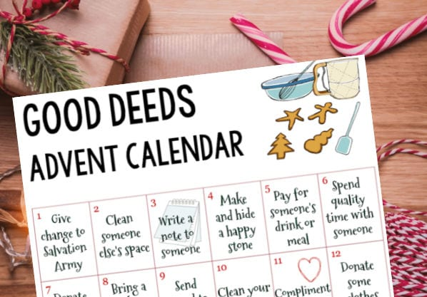 Good Deeds Advent Calendar Free Printable - Shaping Up To Be A Mom