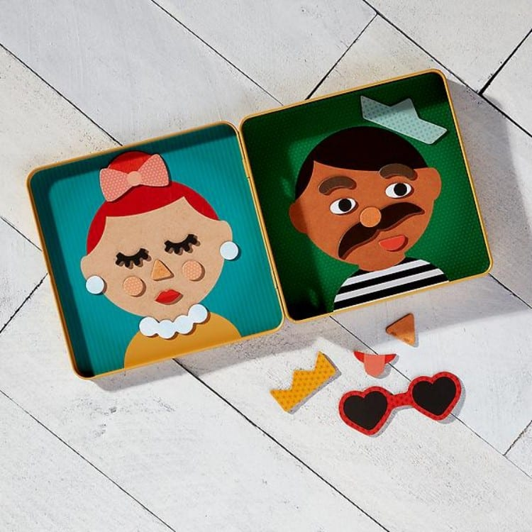 funny faces magnetic toy