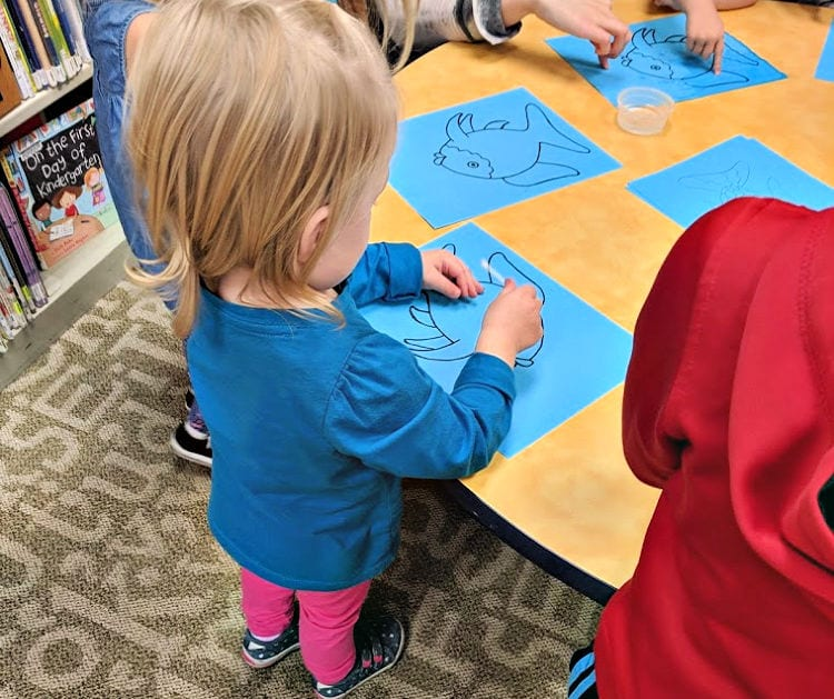 fish painting library activity