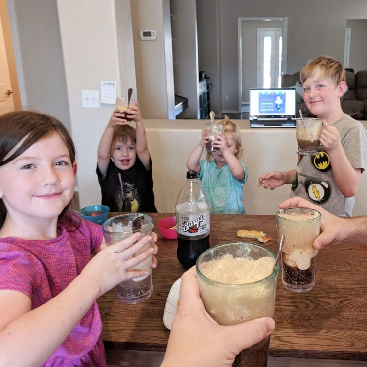 kids with root beer floats