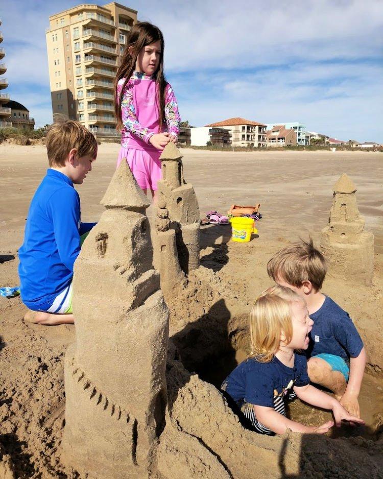 sandcastle building lesson
