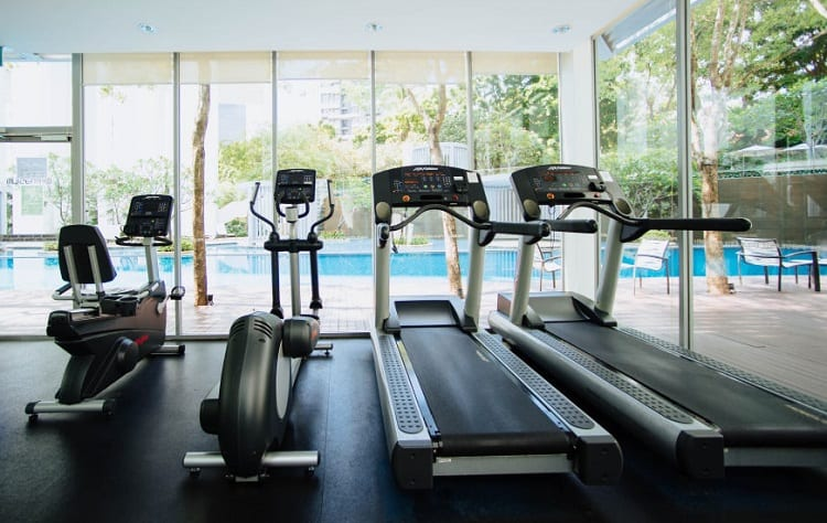 cardio machines at gym