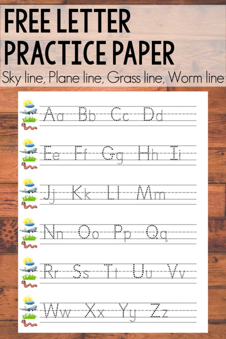 Free letter writing practice paper
