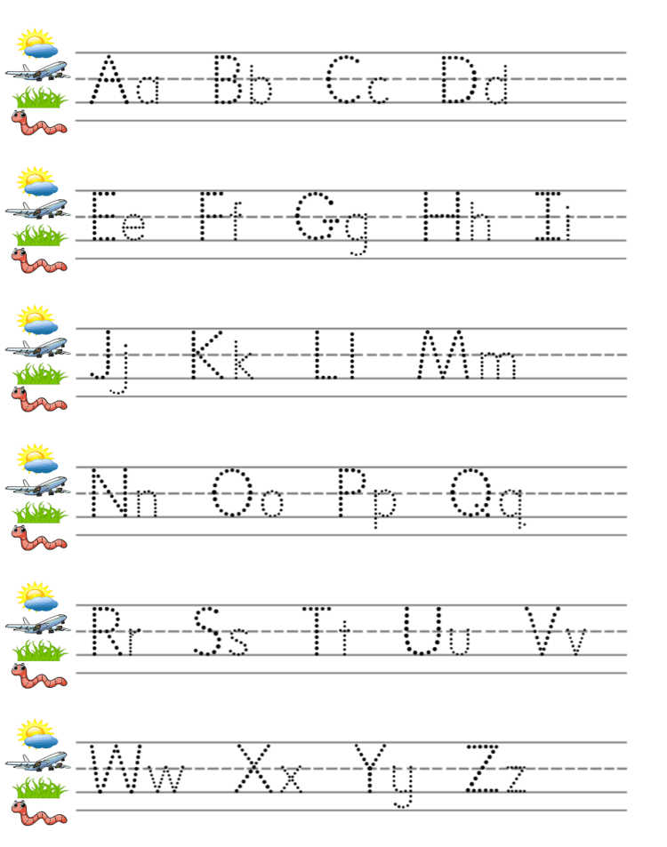 Alphabet practice paper