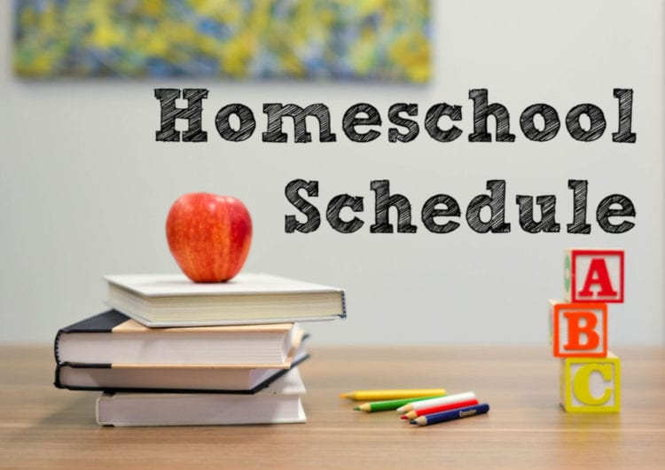 Homeschool schedule banner image