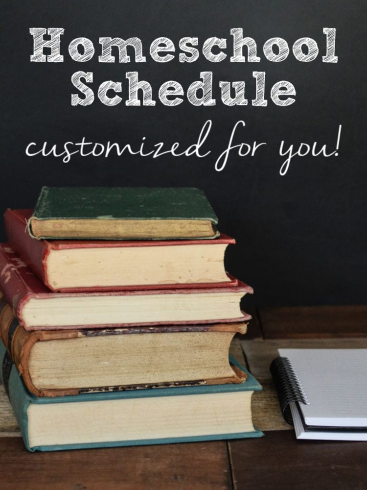 custom homeschool schedule