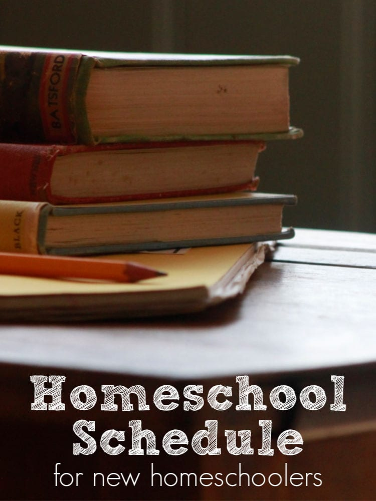 homeschool schedule for new homeschoolers