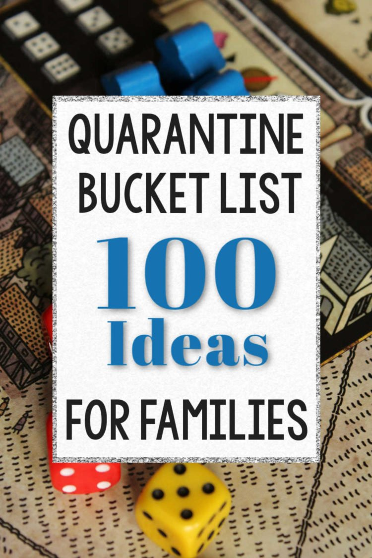 quarantine bucket list for families graphic