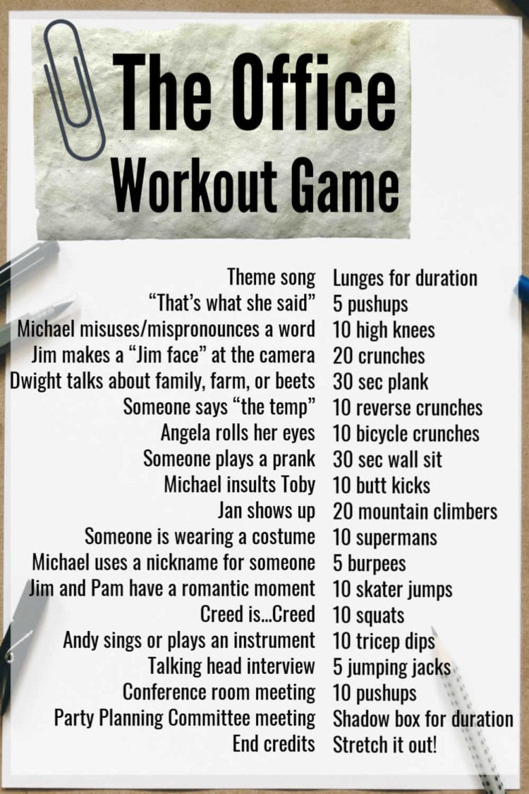 The Office workout game