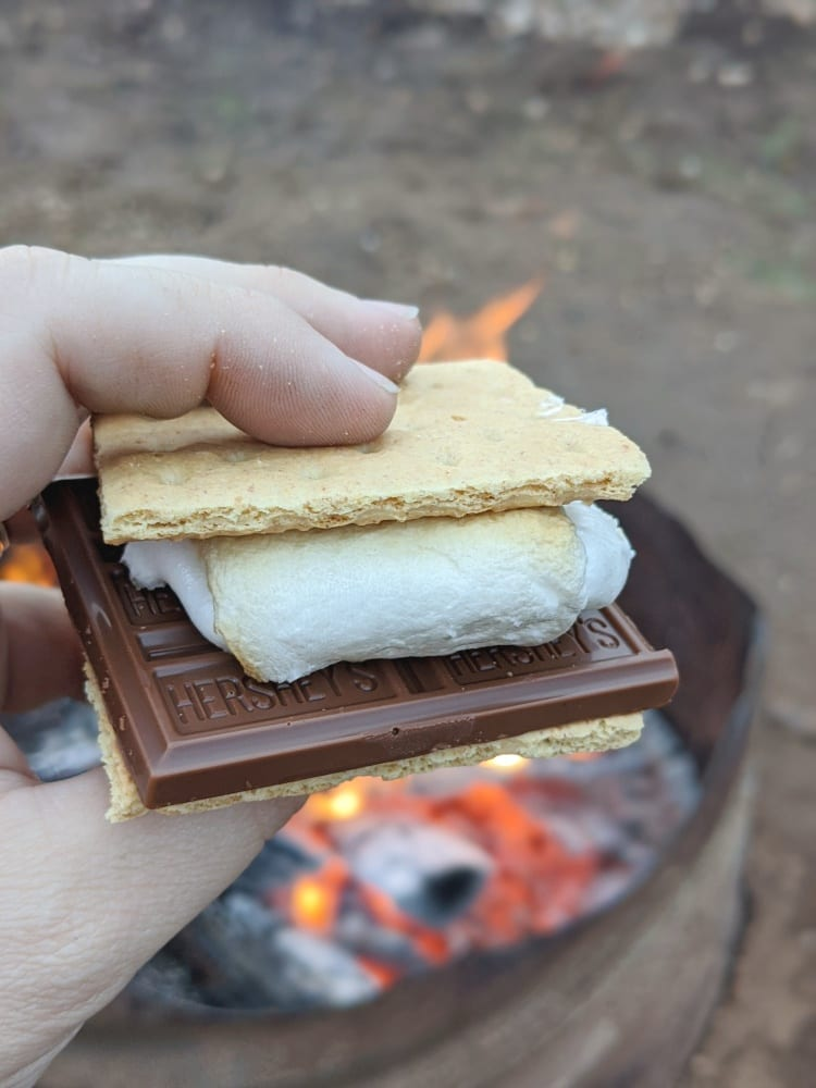 close up of smore