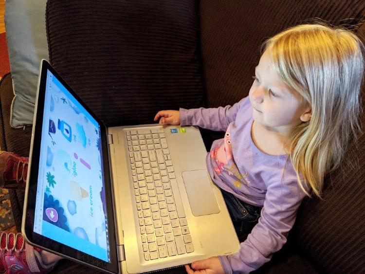 Melody on laptop