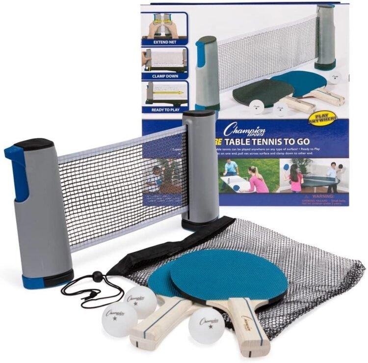 Anywhere table tennis set