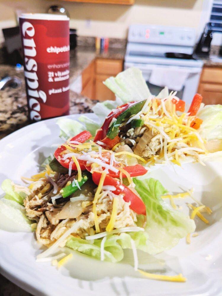 chipotle bbq chicken lettuce wraps