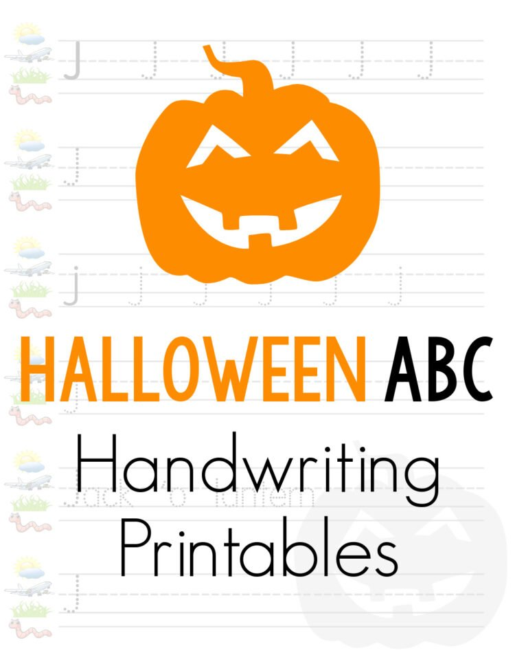Halloween handwriting practice worksheets